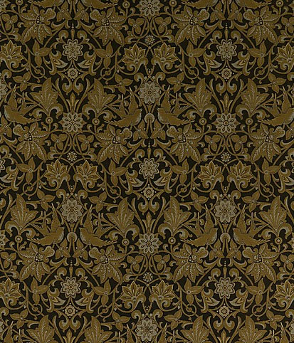 "Jones, Owen. Detail image of ""Chandos"", 1873. Silk textile, 175.3 x 66 cm. Manufactored by Warner & Sons. Accession number 2003.267 at The Metropolitan Museum of Art."