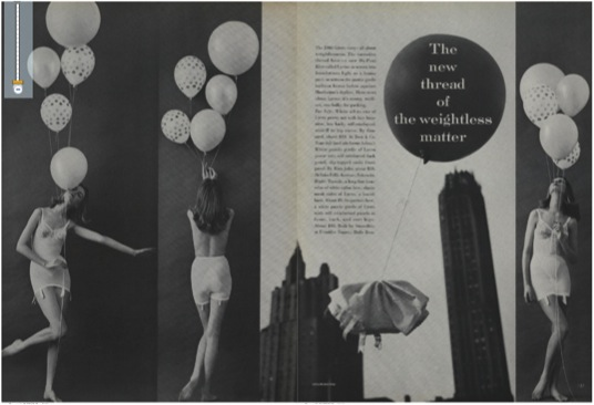 Leombruno-Bodi, The New Thread of the Weightless Matter, Vogue, March 15, 1960, 136-137.