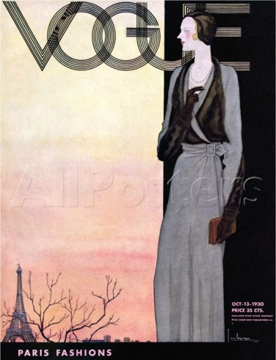 Vogue Magazine cover – October 1930 by Georges Lepape