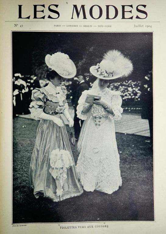 Edmond Cordonnier, Toilettes Vues Aux Courses, 1904, Les Modes, July 1904.