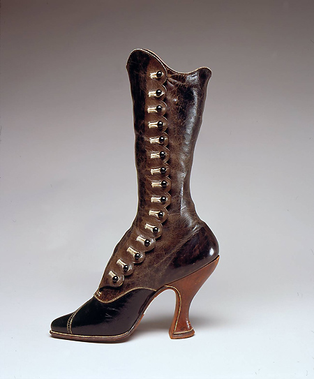 Walking boots by Jack Jacobus, c.1900, England,MFIT. gift of the Victoria and Albert Museum