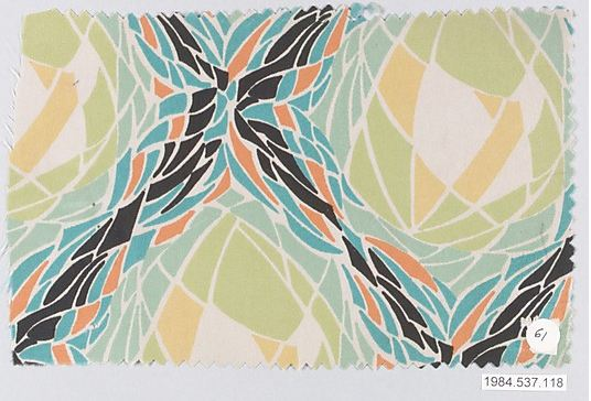 Unknown designer of the Wiener Werkstätte. Textile sample, ca. 1920. Accession number 1984.537.118 at The Metropolitan Museum of Art.