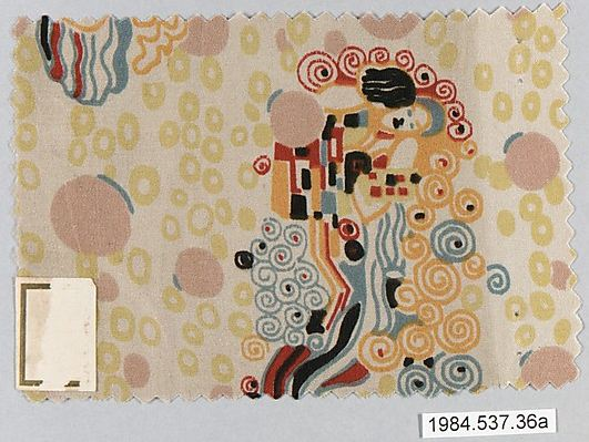 Klimt, Gustav. Textile sample, ca. 1920. Accession number 1984.537.36a-f at The Metropolitan Museum of Art.