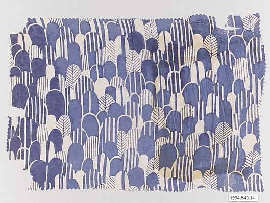 Unknown designer at the Wiener Werkstätte. Textile sample, 1910–28. Silk, 19.7 x 27.9 cm. Accession number 1994.549.14 at The Metropolitan Museum of Art.