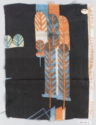 Likarz, Maria. Romulus, 1928. Silk, 27.9 x 18.4 cm. Accession number 1994.549.42.