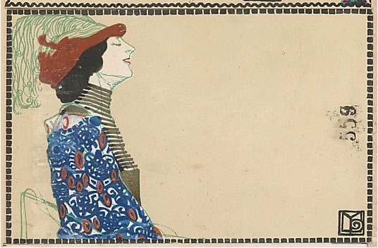 Likarz, Maria. Fashion (Mode), ca. 1907/8–14. Color lithograph, 9 x 14 cm). Accession number WW.559 at The Metropolitan Museum of Art.