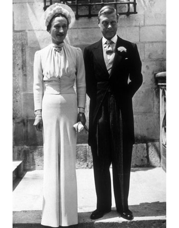 The Duke and Duchess of Windsor ,1937. Wedding dress by Mainbocher now held in the Metropolitan Museum of Art. image credit: Keystone/Hulton Archive/Getty Images
