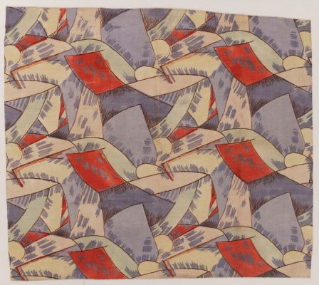 Fry, Roger. Amenophis, 1913. Stencil-printed linen. Accession number CIRC.424-1966 at the Victoria and Albert Museum.