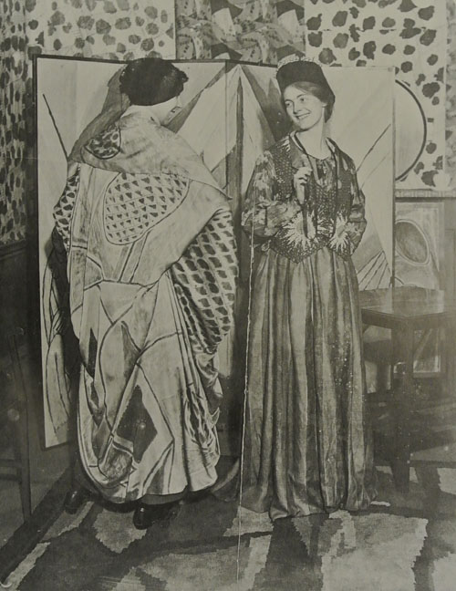 Nina Hamnett and Winifred Gill, photographed in The Illustrated London Herald, October 24, 1915. The British Library. Found in Source 3.