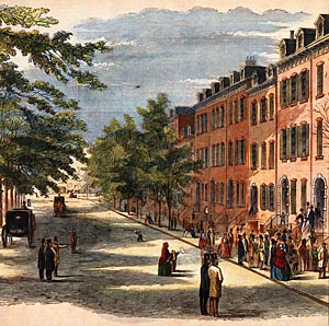 Bond Street, 1857  http://merchantshouse.org