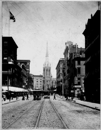 Grace Church, c. 1890.  NYPL Digital Gallery.