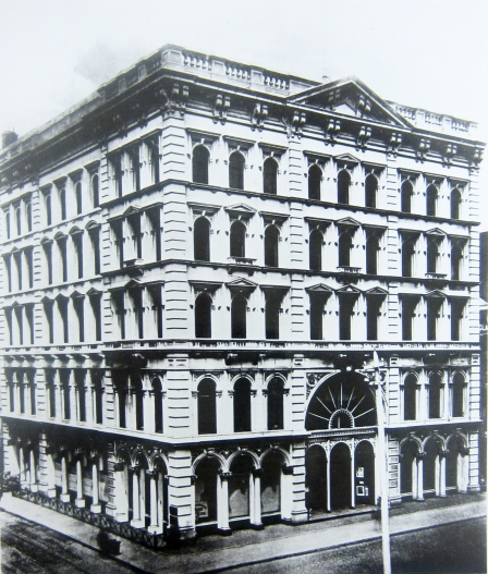 Lord and Taylor 's second location on Grand Street, corner of Broadway,1860-1874.  Special Collections and FIT Archives.