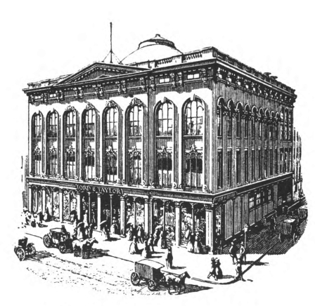Lord and Taylor store at Grand and Chrystie Streets,  opened 1853.  The History of Lord & Taylor, 1826-1926.