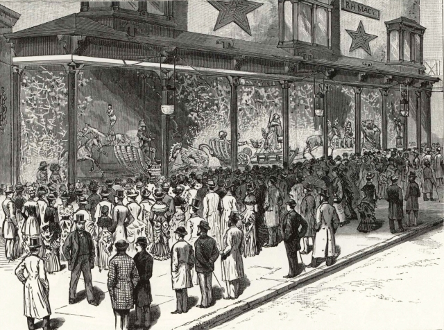 Macy's Christmas Window, 1884 Frank Leslie's Illustrated Newspaper