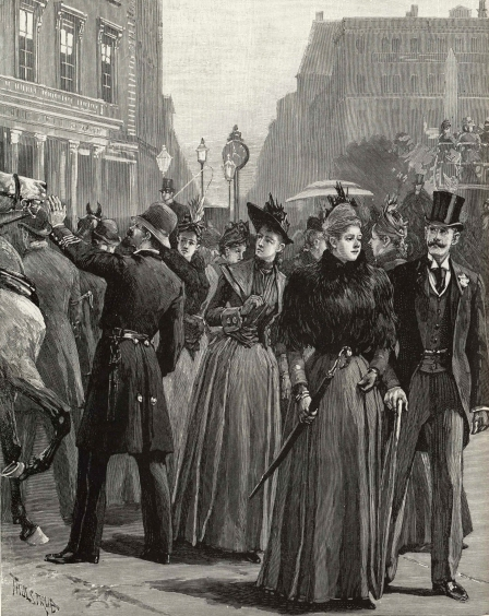 Madison Square, 1889.  Harper's Weekly, November 23, 1889.