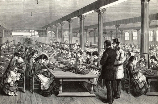 sewing room AT Stewart 1875 Grafton