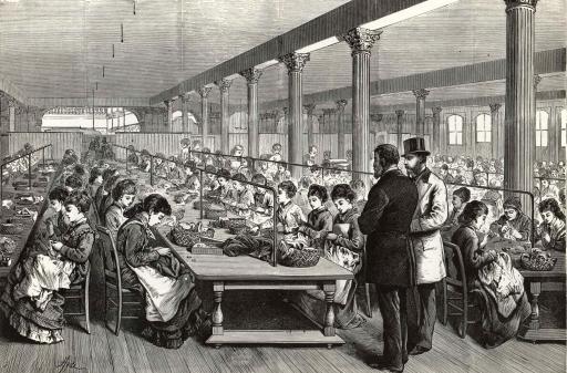 sewing room AT Stewart 1875 Grafton