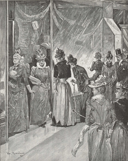 Christmas Shopping on Grand Street, 1890. Frank Leslie's Illustrated Newspaper.