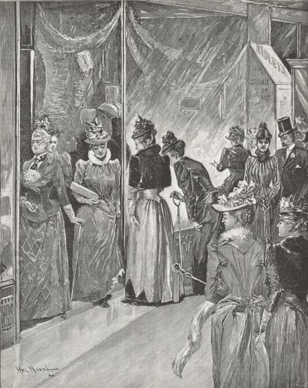 Christmas Shopping on Grand Street, 1890. Frank Leslie's Illustrated Newspaper.