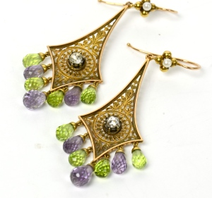 Suffragettes earrings. Source: Edith Horwitz