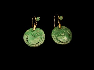 Jade earrings from Jane Merrill's own collection