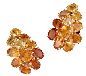 Belperron earrings.  Verdura