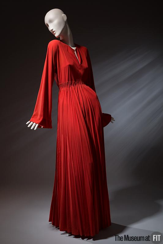 A rayon crepe Valentina gown, c. 1940, in the collection of the Museum at FIT