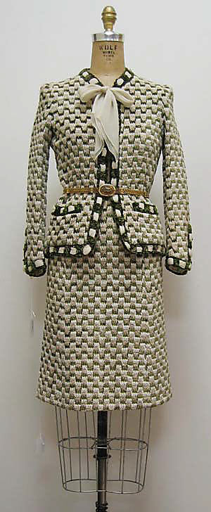 A classic Chanel suit from the collection of the Metropolitan Museum of Art., 1970s. metmuseum.org.