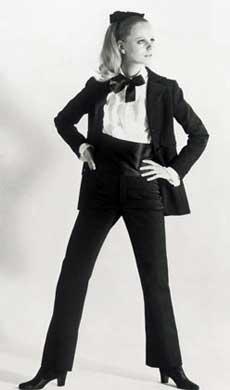 YSL's le smoking look, 1966