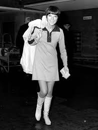 Mary Quant in one of her own famous creations, c. 1964