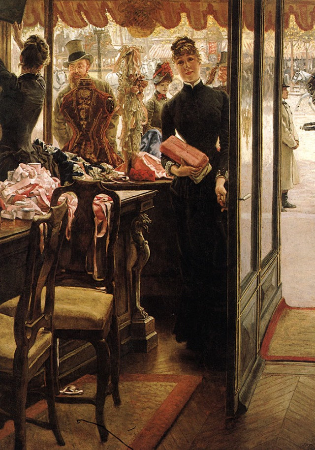 The Shop Girl. James Tissot, 1883.